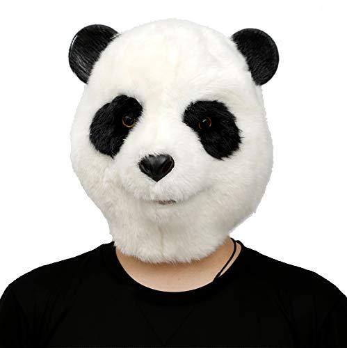 CreepyParty Halloween Kostüm Party Tierkopf Latex Maske Plüsch Panda