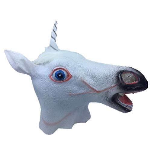 Pferdemaske Cosplay Neuheit Halloween-kostüm-party Latex Tierkopf-maske Pferdekopf-maske